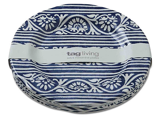 Home Accents Artisan Melamine Salad Plates 1