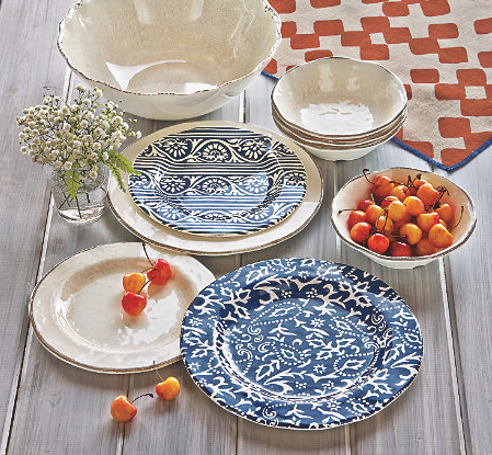Home Accents Artisan Melamine Salad Plates 2