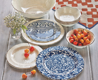 Home Accents Artisan Melamine Salad Plates