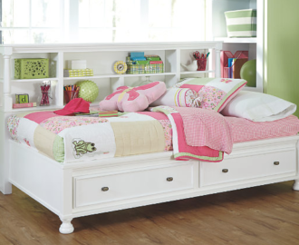 Kaslyn Twin Bookcase Bed
