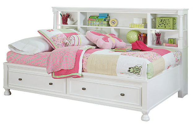 Kaslyn Twin Bookcase Bed2