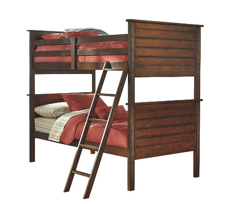 Ladiville Twin Over Twin Bunk Bed2