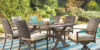 Moresdale 7 Piece Outdoor Rectangular Dining Set 1