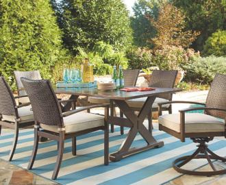 Moresdale 7 Piece Outdoor Rectangular Dining Set