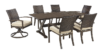 Moresdale 7 Piece Outdoor Rectangular Dining Set 2