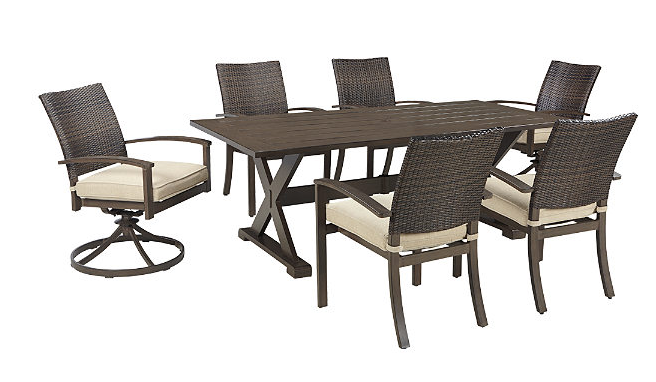 Moresdale 7-Piece Outdoor Rectangular Dining Set 2