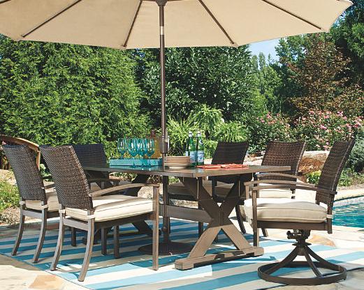 Moresdale 7-Piece Outdoor Rectangular Dining Set 3