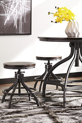 Odium Counter Height Dining Table Amp Bar Stools Set Of 5