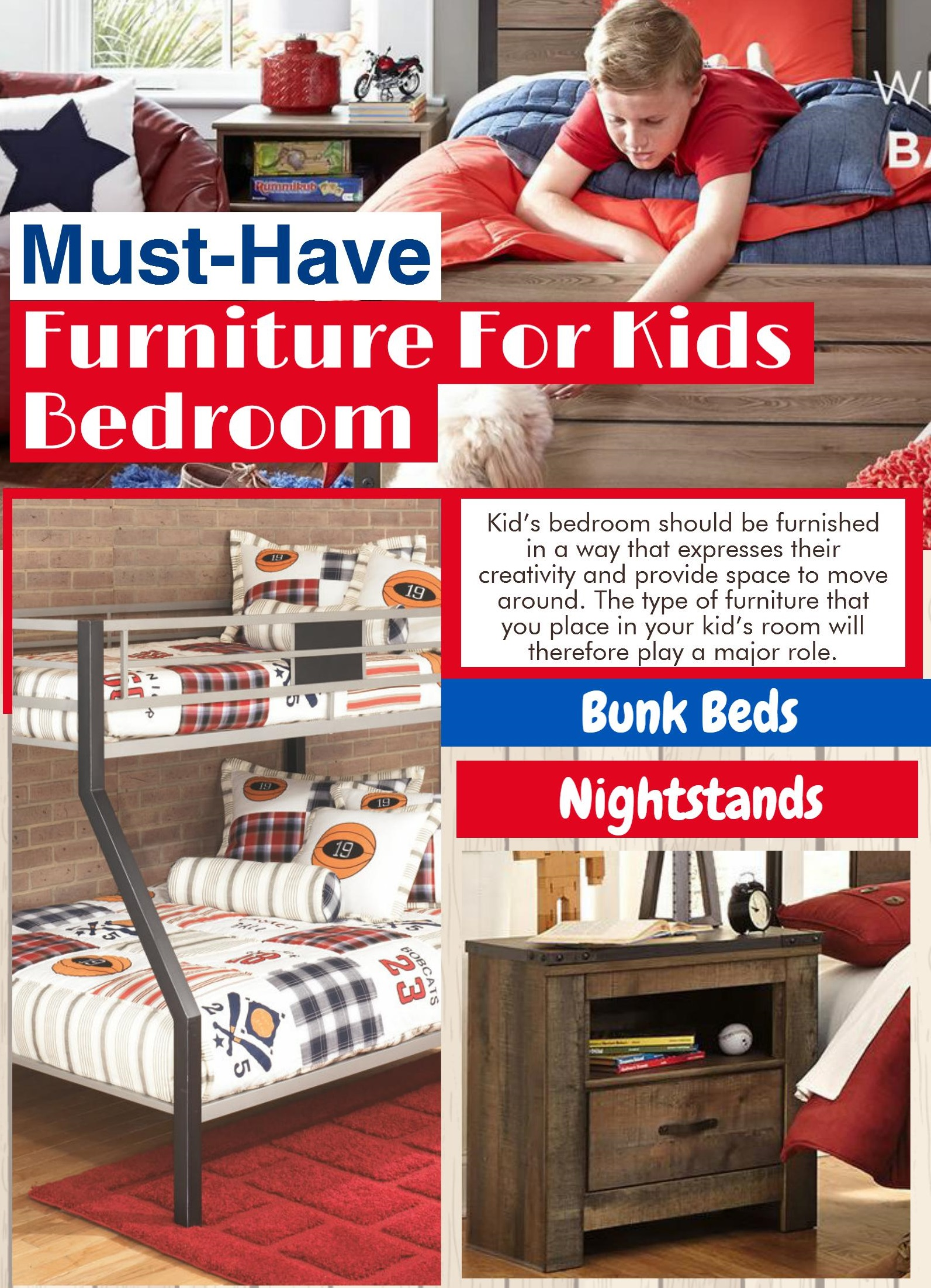 Must-Have Furniture For Kids Bedroom - killeenfurniture