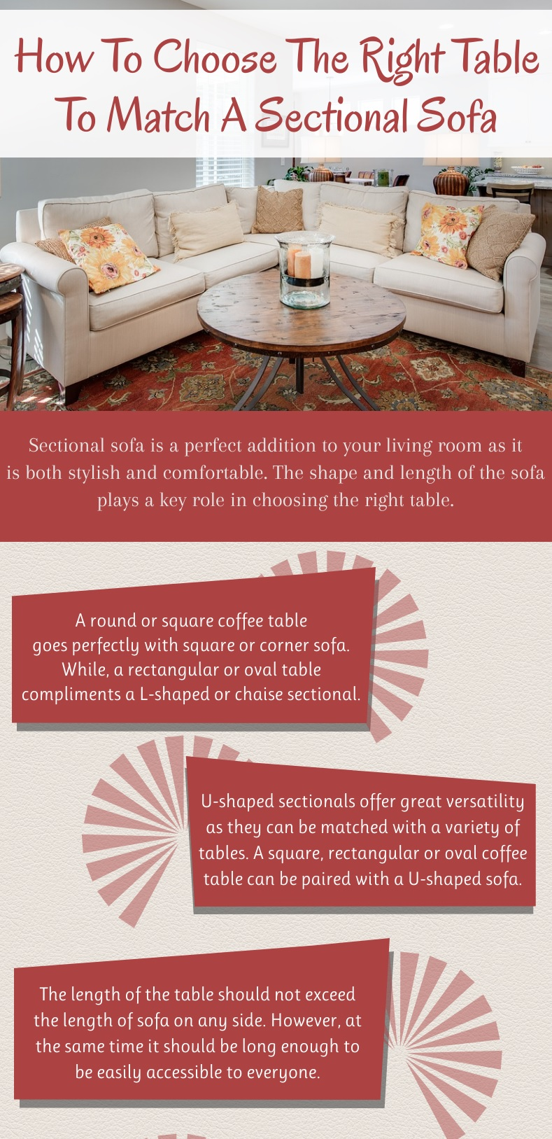 Groovy How To Choose The Right Table To Match A Sectional Sofa Short Links Chair Design For Home Short Linksinfo